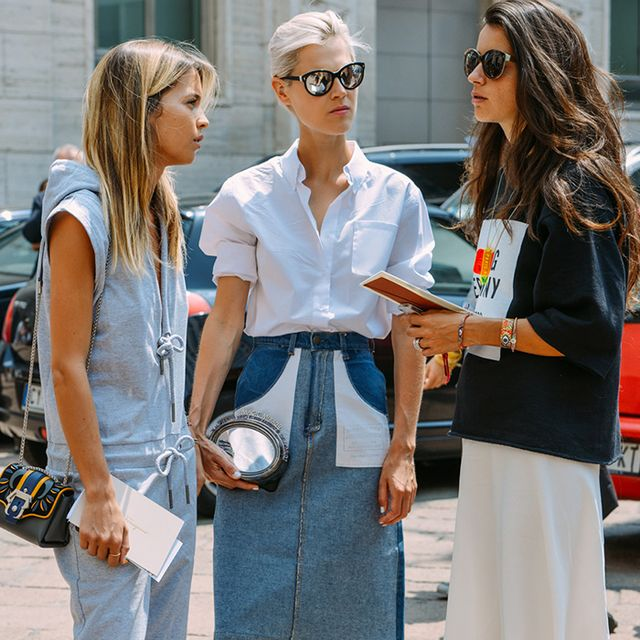 The Denim Look That's Taking Over the Fashion Crowd