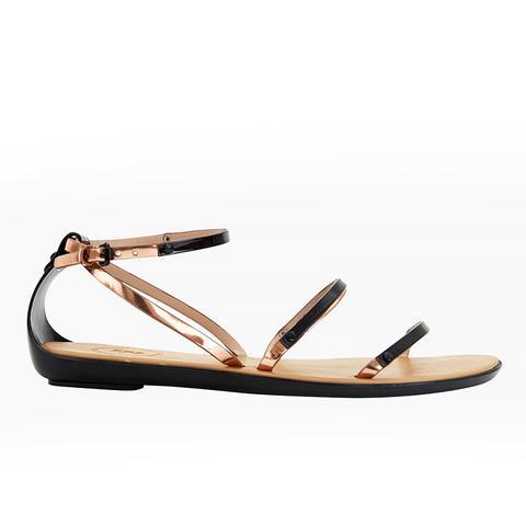 Talia Metallic Strap Sandals