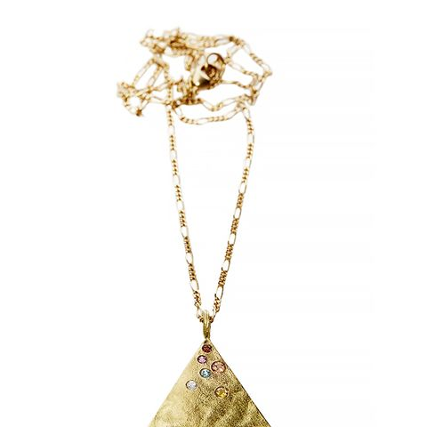 Orit & Holly Golightly Pyramid Necklace in Gold