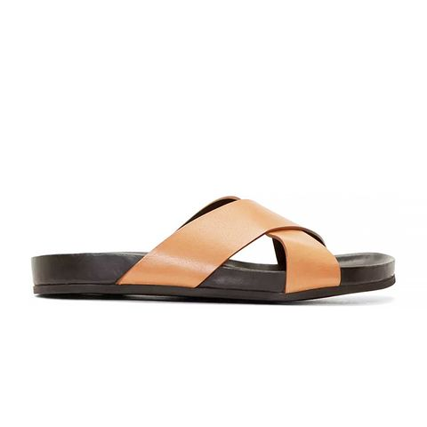 Brown Criss Cross Sandals