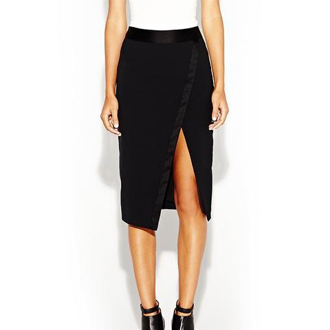 Tux Gabardine Slit Skirt