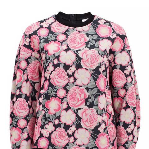 Eliane Flowerprinted Neoprene Sweatshirt