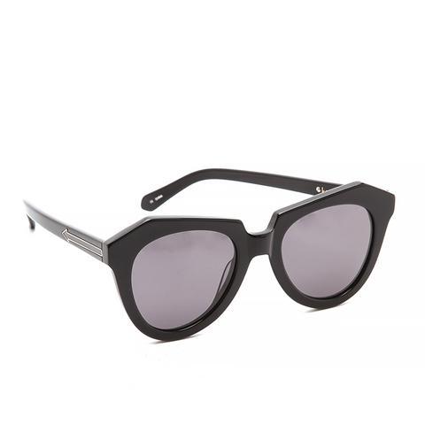 Oversized Angled Frame Sunglasses