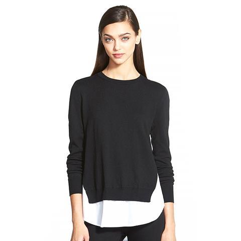 Contrast Underlay Sweater