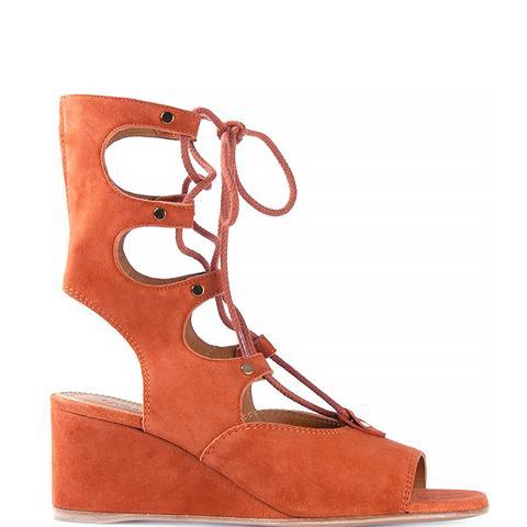 Sienna Suede Wedge Gladiator Sandals