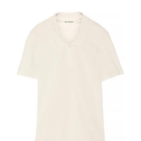 Teresa L Piq Oversized Cotton-Piqué Polo Shirt