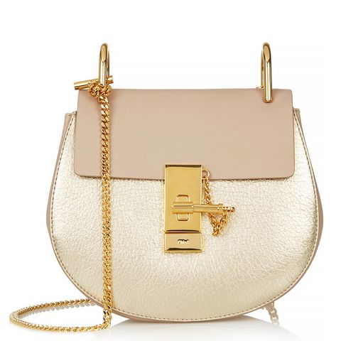 Drew Mini Textured-Leather Shoulder Bag