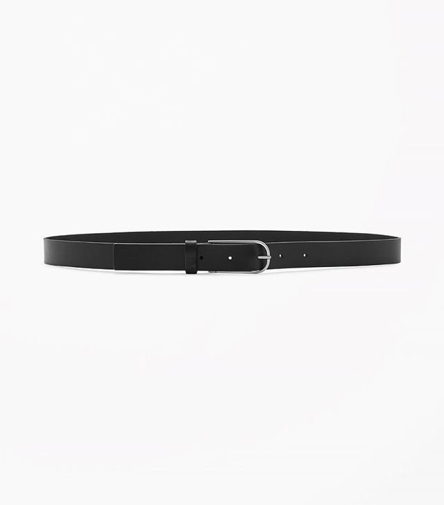 COS Slim Buckle Leather Belt