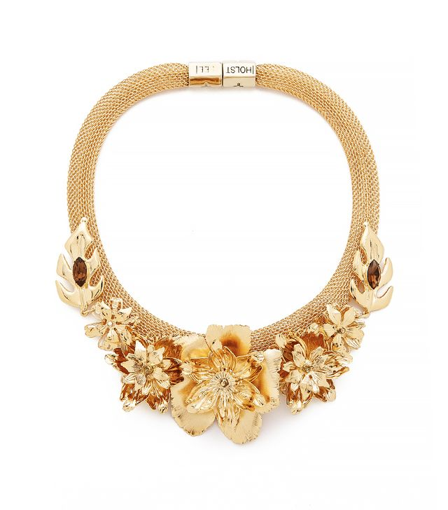 Holst + Lee Golden Lei Statement Necklace