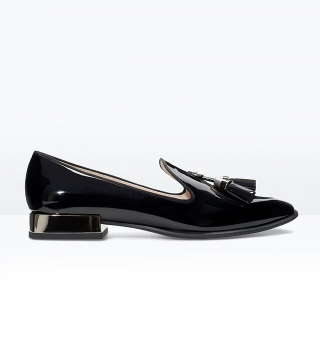 Zara Synthetic Patent Shoes
