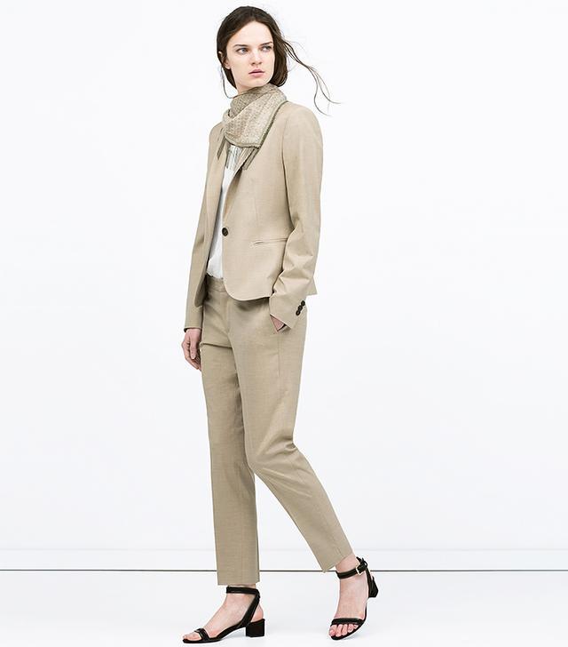 Zara Single Button Blazer