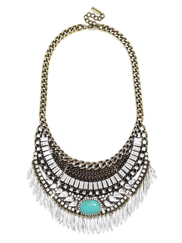 Ale by Alessandra x BaubleBar Turquoise Oirpata Bib Necklace