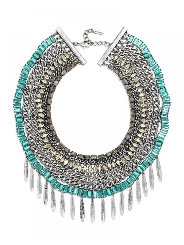 Ale by Alessandra x BaubleBar Turquoise Naiad Bib Necklace
