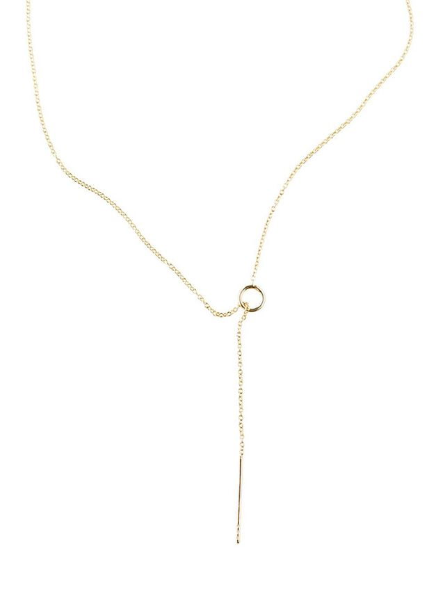 Jack Loves Charlie,M.D.S. Stripes Simple Lariat with Diamonds