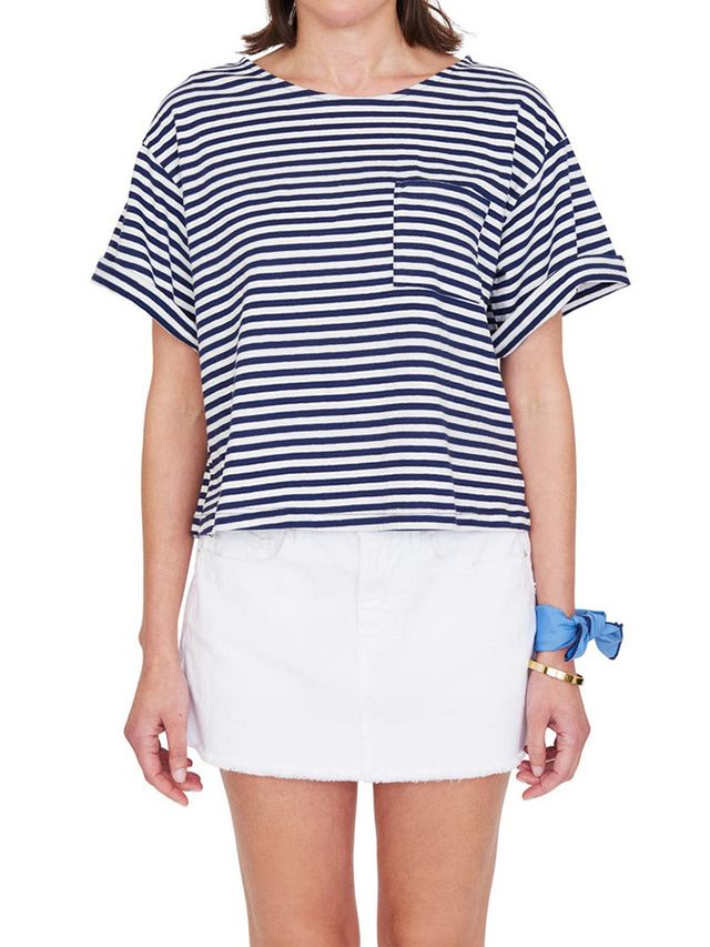 M.D.S. Stripes Bacall Boxy Tee