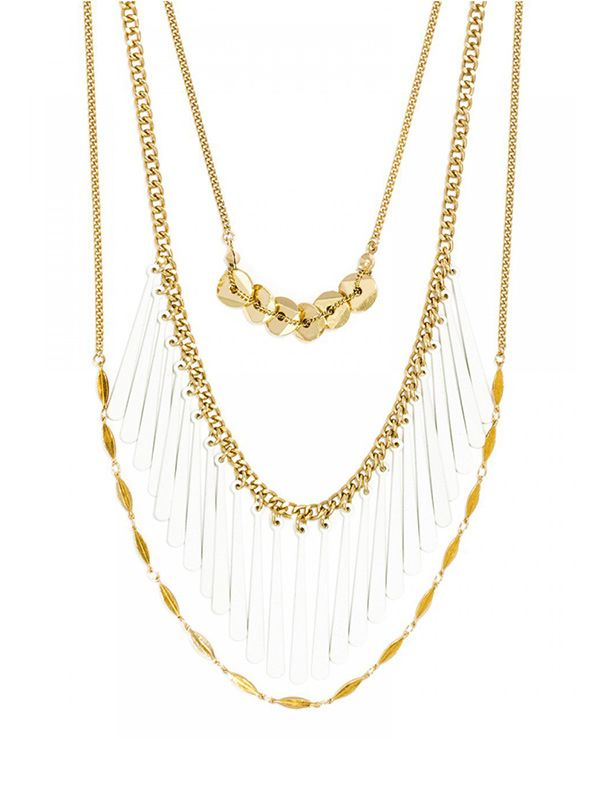 Ale by Alessandra x BaubleBar Carnevale Layered Strands Necklace