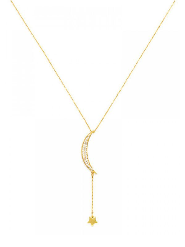 Ale by Alessandra x BaubleBar Pave Moondrop Pendant Necklace