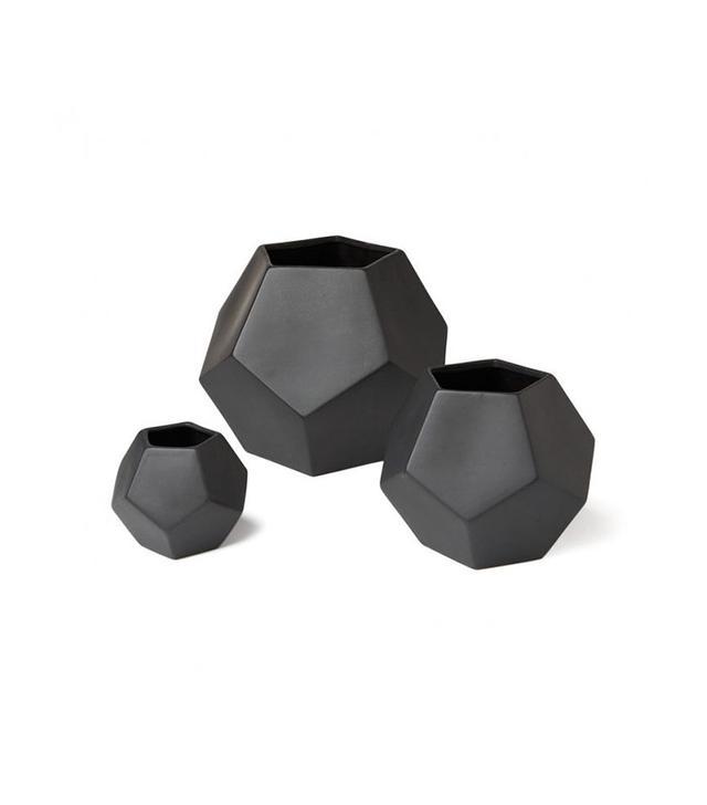 DwellStudio Faceted Black Vase