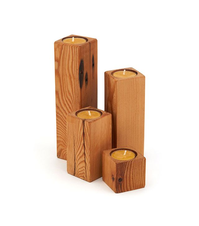 Peg and Awl Woodstack Candles