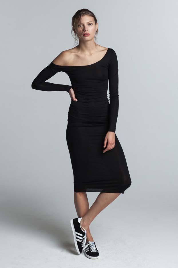 Trois Helena Long Sleeve Dress