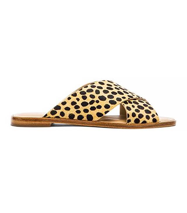 Loeffler Randall Echo Calf Hair Sandals in Cheetah