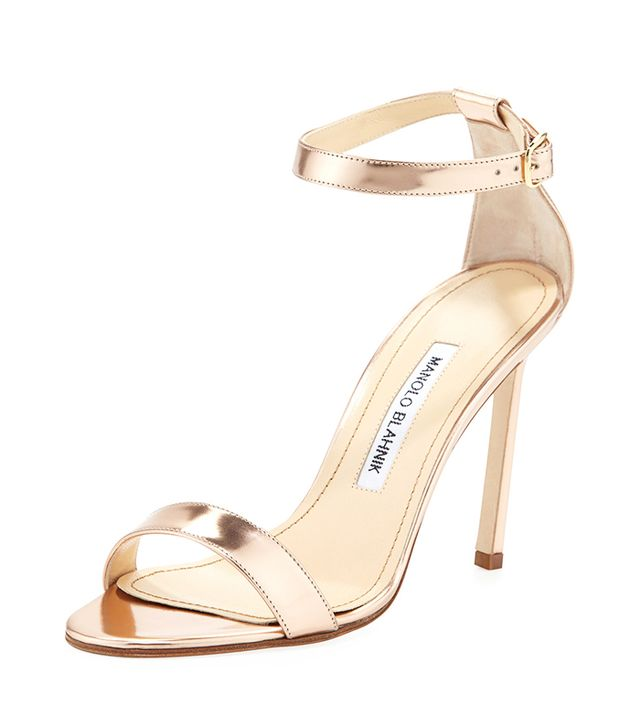 Manolo Blahnik Chaos Metallic Sandals