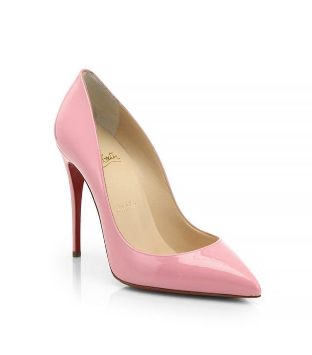 Christian Louboutin Pigalle Follies Patent-Leather Pumps in Rose