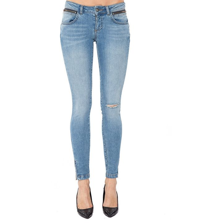 Anine Bing Cropped Jeans with Slit