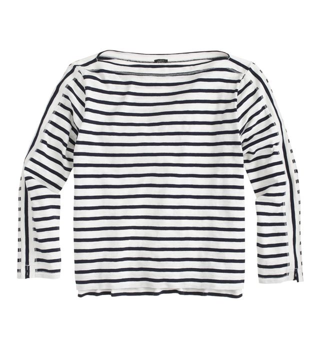 J. Crew Midweight Stripped Tee
