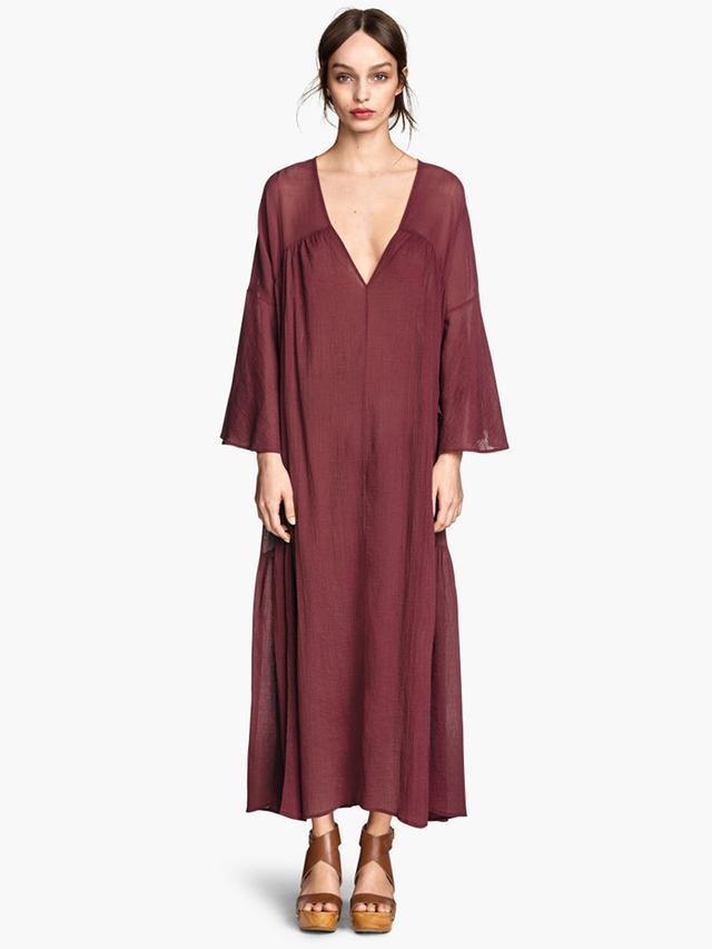 H&M Wide-Cut Cotton Dress