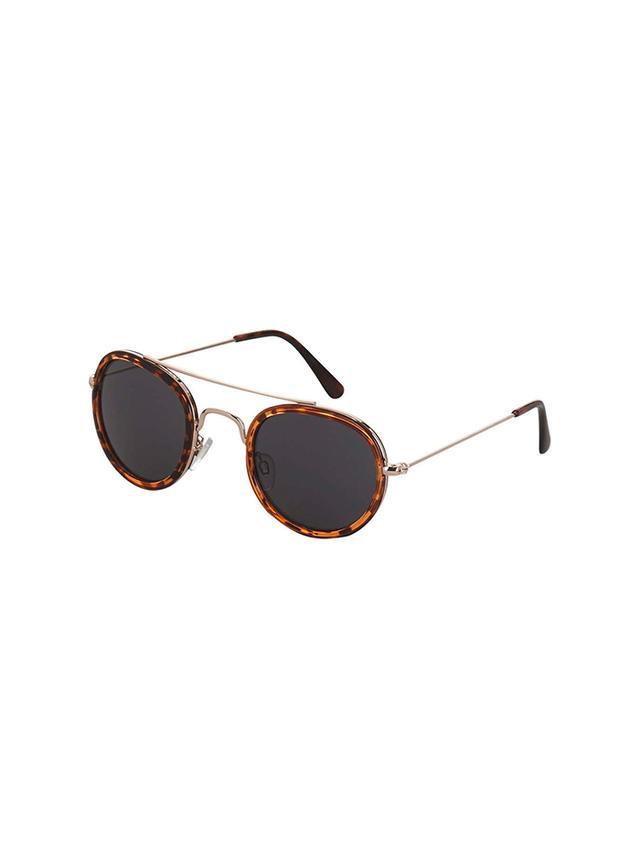 Topshop Milton Metal Oval Sunglasses