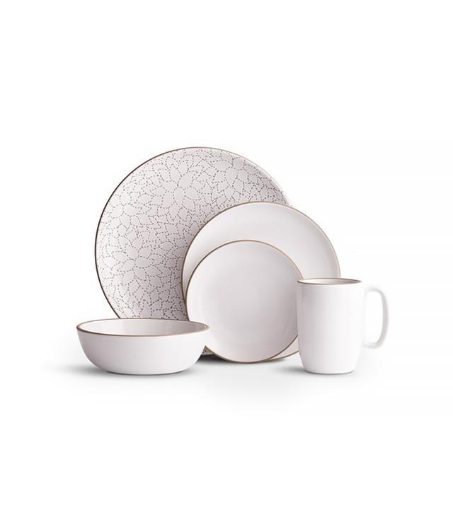Heath Ceramics Camellia Opaque White Place Setting