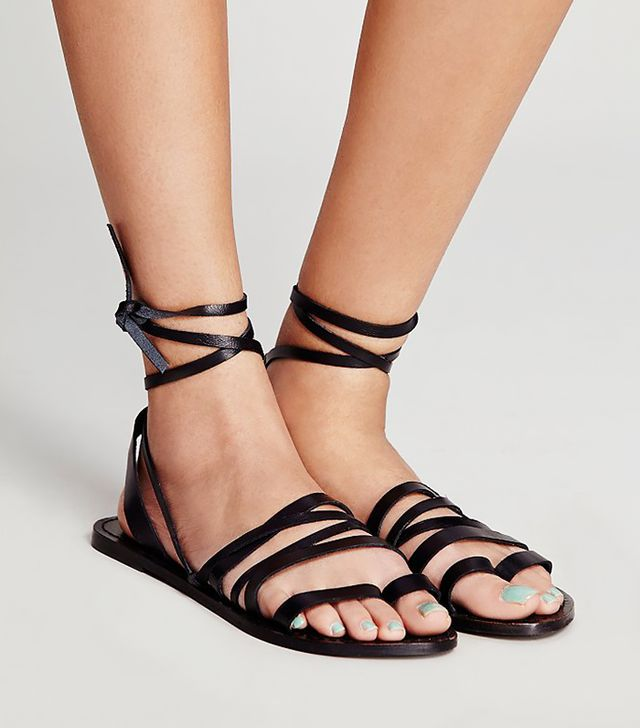 Free People Harpoon Wrap Sandals