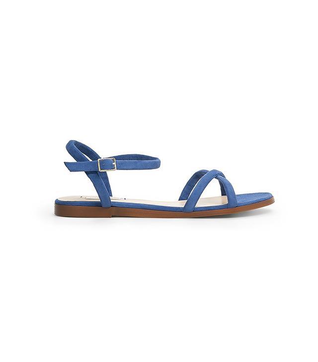 Mango Suede Flat Sandals