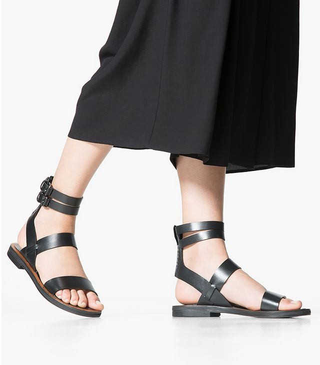 Mango Strap Leather Sandals