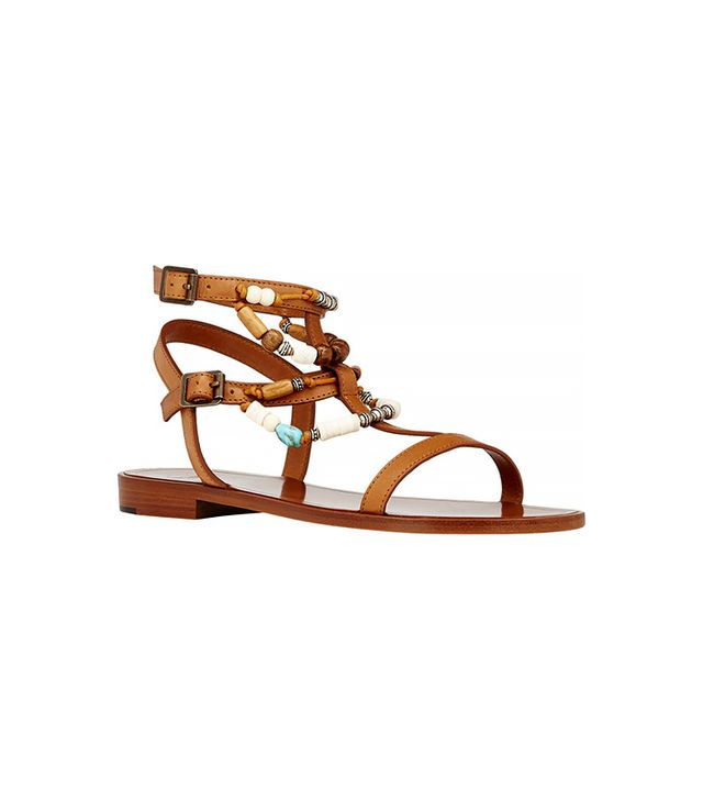 Saint Laurent Bead-Embellished Nu Pieds Sandals