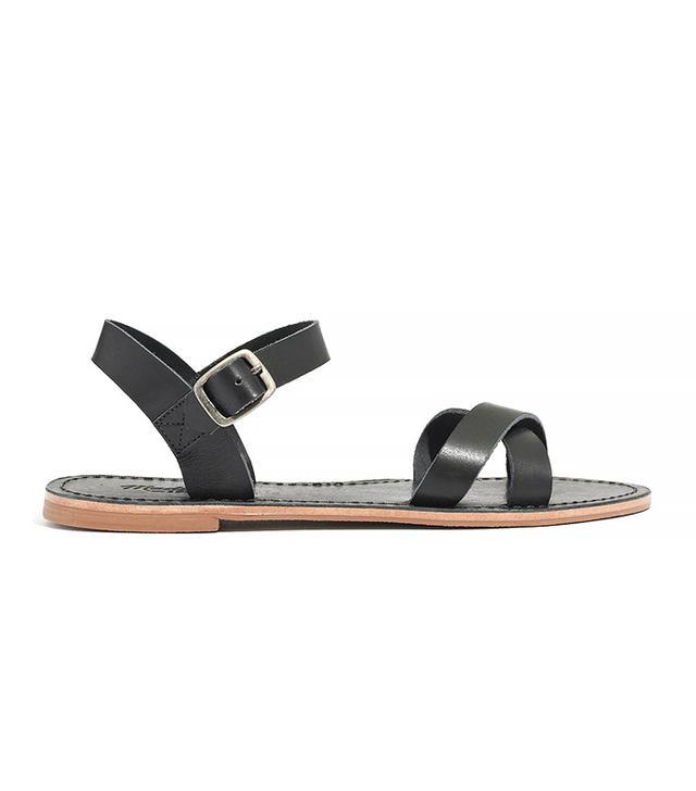 Madewell The Sightseer Crisscross Sandals