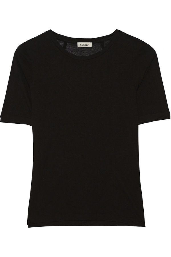 Stockholm Micro Modal And Cashmere-Blend T-Shirt Totême