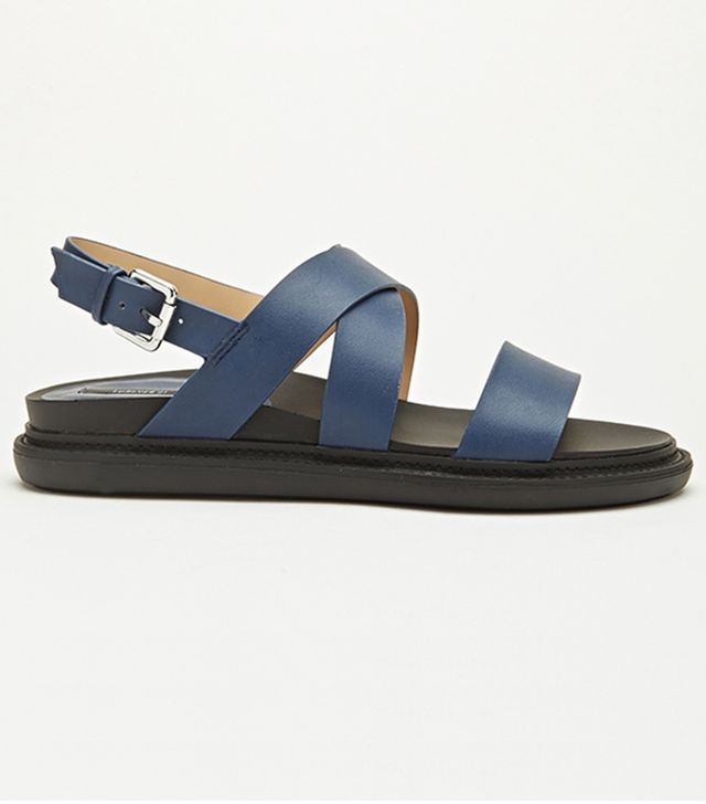 Forever 21 Textured Faux Leather Sandals
