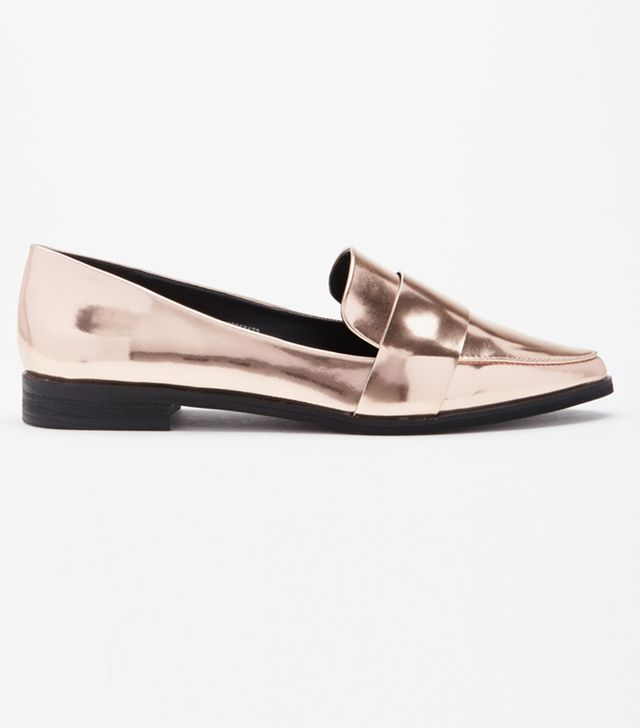 Forever 21 Faux Leather Pointed Loafers