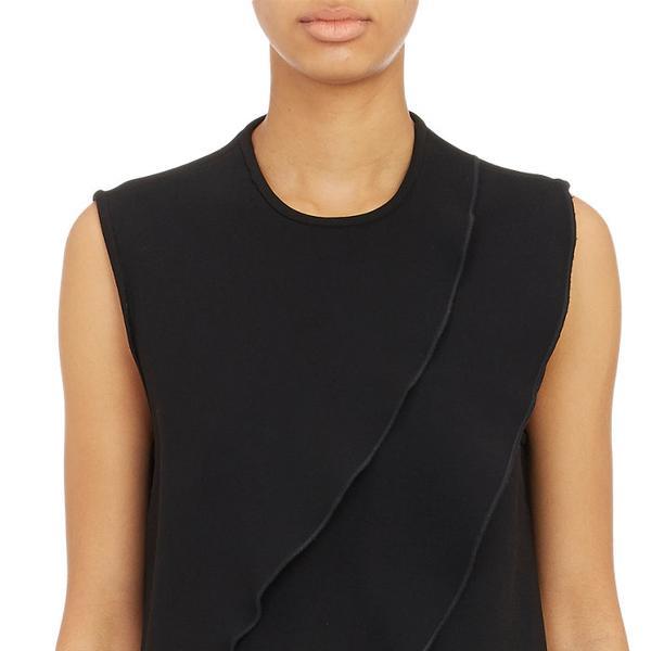 CO Asymmetric-Ruffle A-Line Dress