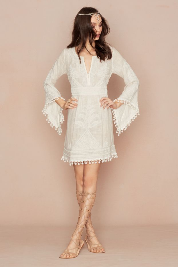 Calypso St. Barth Playla Hand-Embroidered Dress