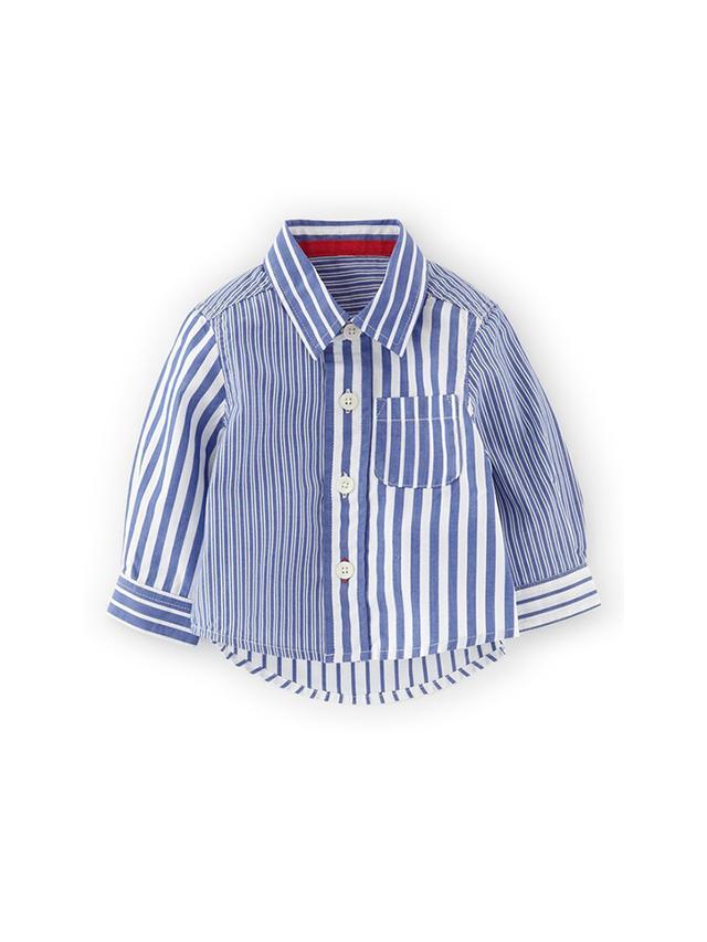 Mini Boden Laundered Cotton Sport Shirt