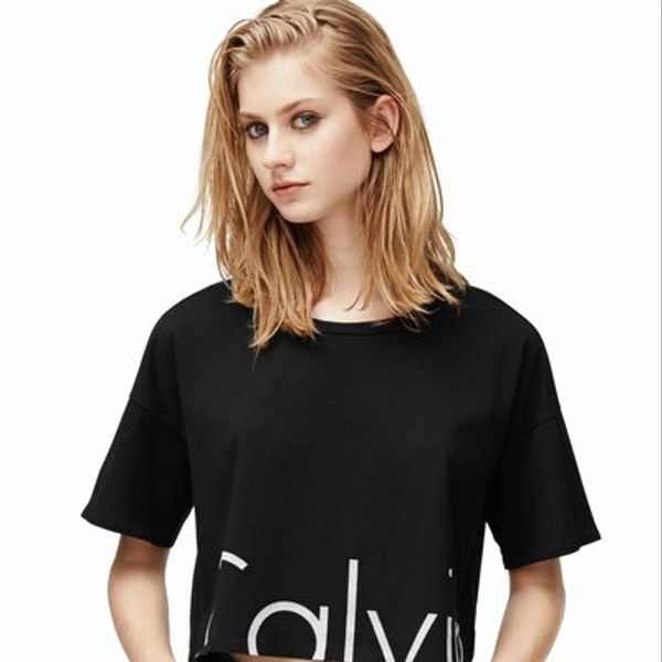 Calvin Klein Jeans Logo Cropped Short-Sleeve Tee