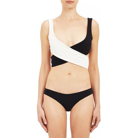 Marie-Louise Stretch-crepe Bikini