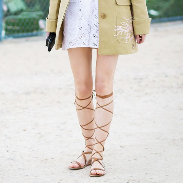 A Feminine and Fresh Way to Wear Gladiator Sandals