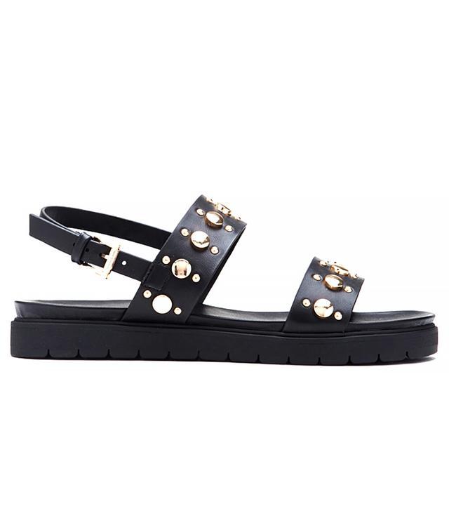 Forever 21 Studded Flatform Sandals