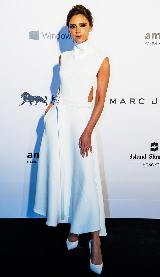 On Beckham: Victoria Beckham dress.
