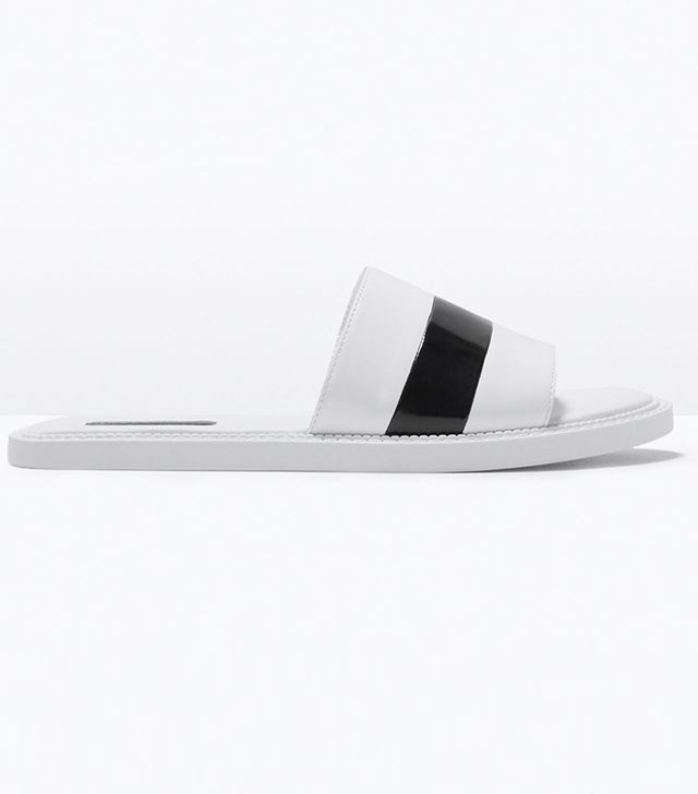 Zara Plain Slip-On Sandals