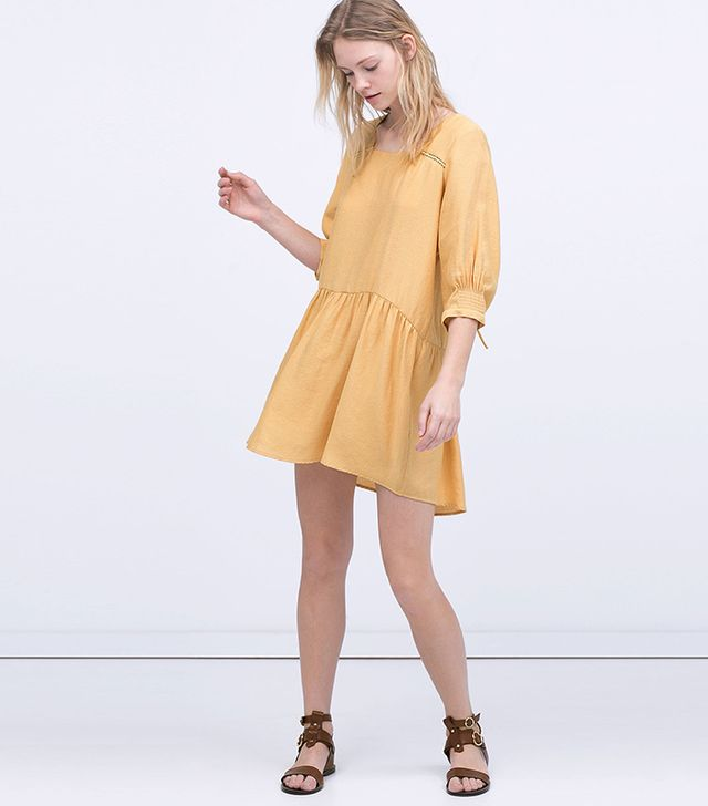 Zara Cap-Sleeve Dress